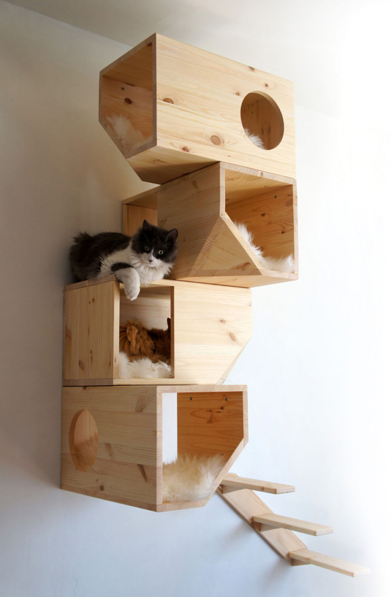 Catissa una casa modular para gatos maria victrix - Casa para gato ...
