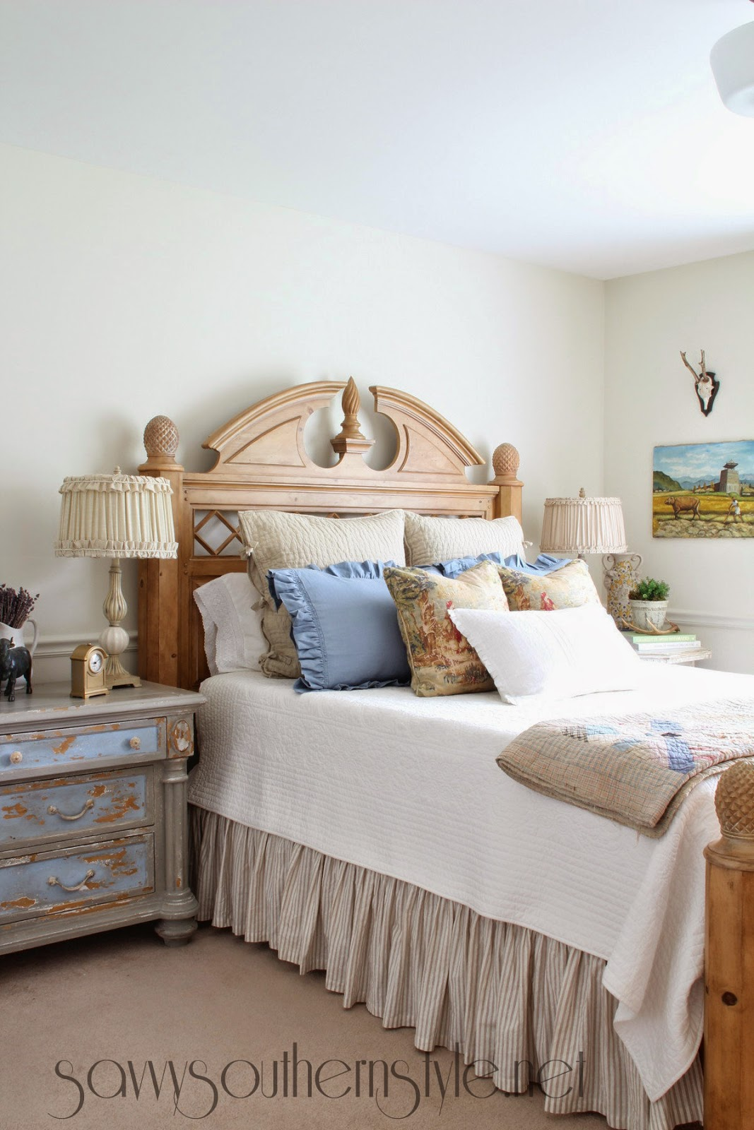 Savvy southern style french country style guest room reveal for Country french rooms