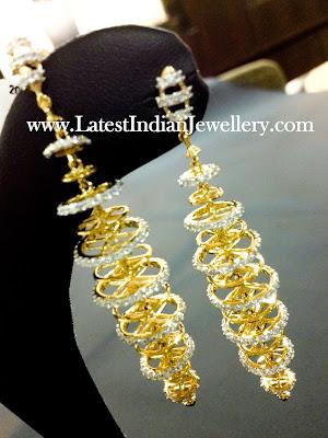 Diamond Chandalier Earrings