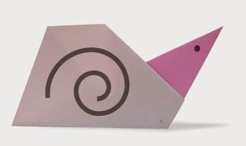 Hướng dẫn cách gấp con ốc bằng giấy đơn giản - Xếp hình Origami với Video clip - How to make a Snail