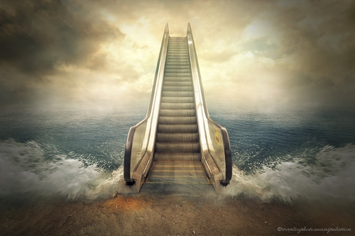 07-Escalator-Even-Liu-Surreal-Photo-Manipulations-and-the-Lantern-www-designstack-co