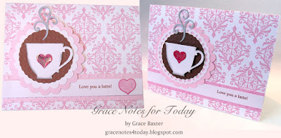 Latte valentines, similar yet different, by Grace Baxter