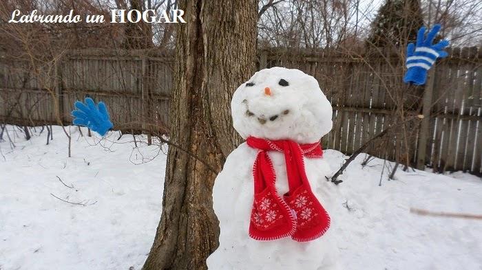 Nuestro primer snowman/hombre de nieve
