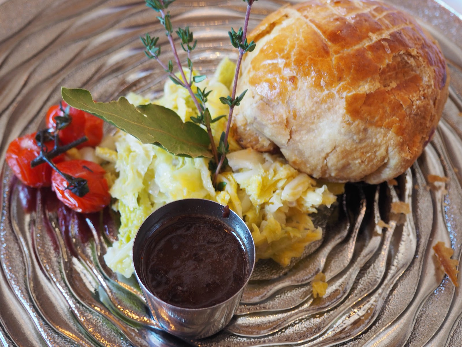 Quail pie at La Fruitiere, Val d'Isere, France