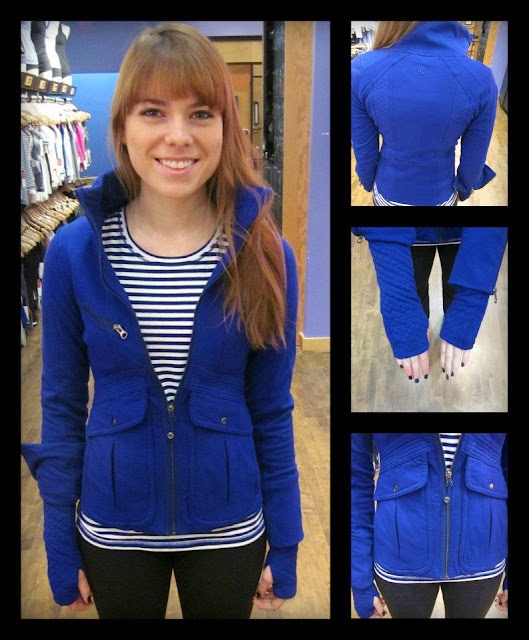 lululemon its happening jacket and lively tee