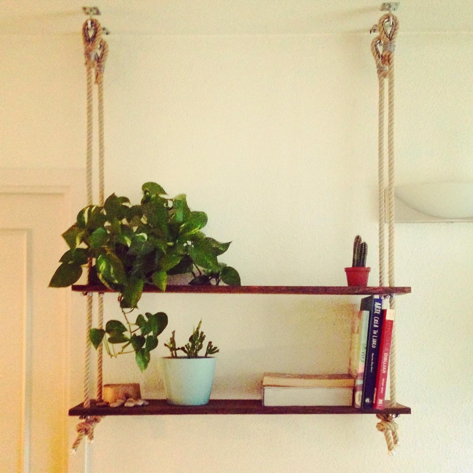 Estanter a de madera y cuerda proyecyos de rojosill n - Como hacer estanterias de madera ...