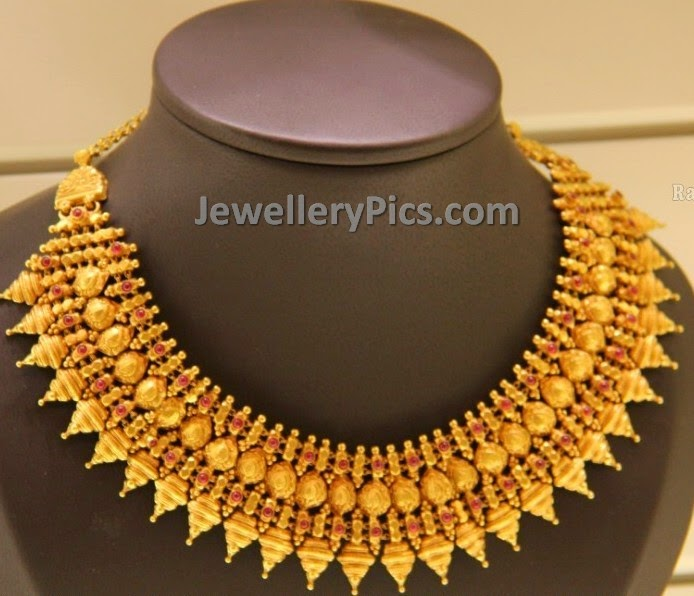 elegant polki antique necklace
