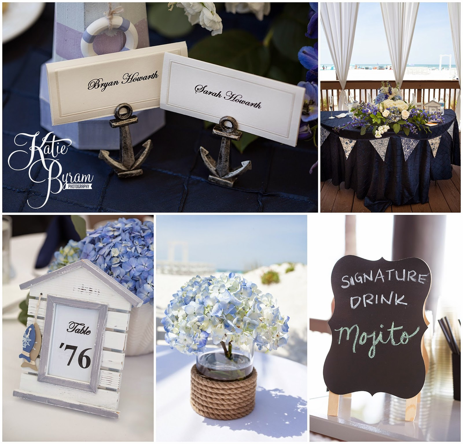 nautical wedding, beach wedding theme, destination wedding, clearwater beach wedding, hilton clearwater beach wedding, katie byram photography, florida wedding