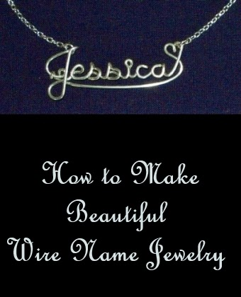 How to make beautiful wire name jewelry