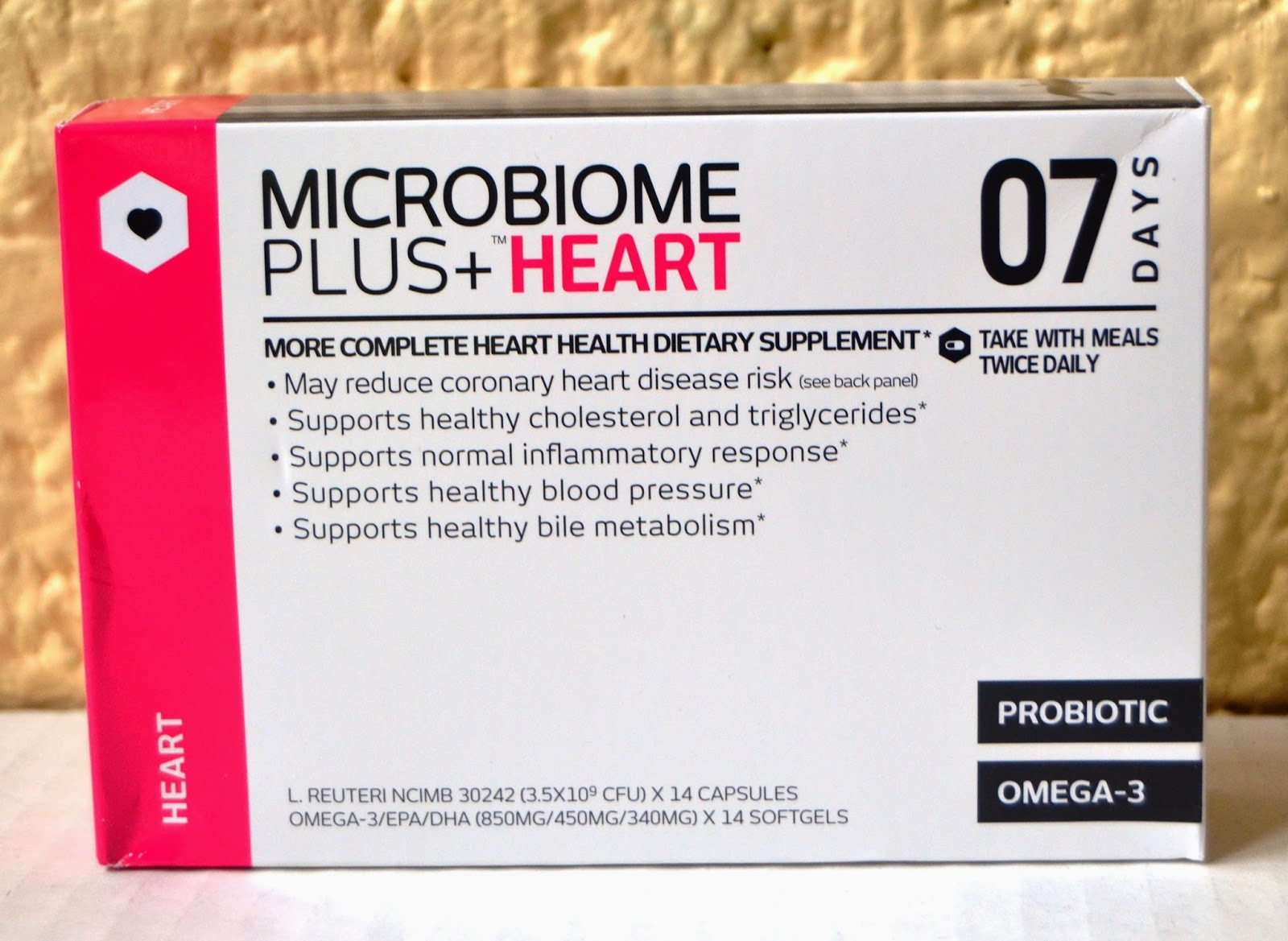 Microbiome Plus+ Heart Supplement- omega-3 and probiotics