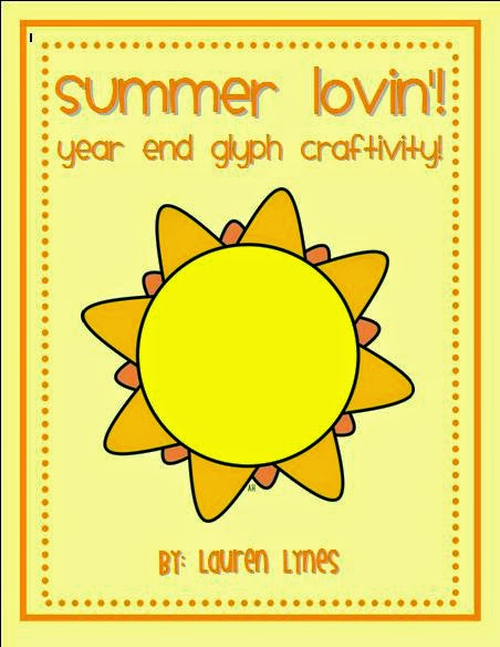 http://www.teacherspayteachers.com/Product/Summer-Lovin-Year-End-Glyph-Craftivity-658138