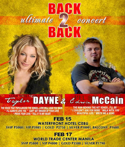 Edwin McCain and Taylor Dayne Live in Manila and Cebu 2012, Poster, Picture, Image