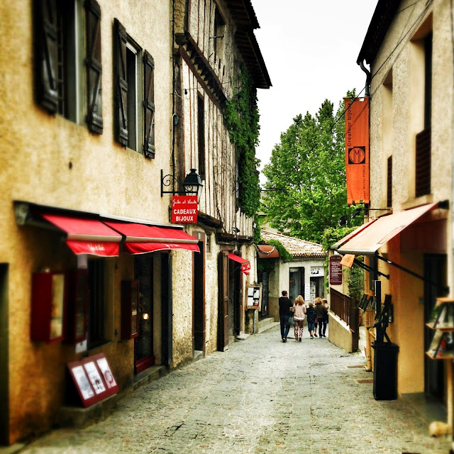 Walking through the streets of Carcassonne France