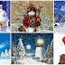 Feliz Navidad - Nieve, arbolitos, muñecos de nieve, hermosas imagenes gifs animadas