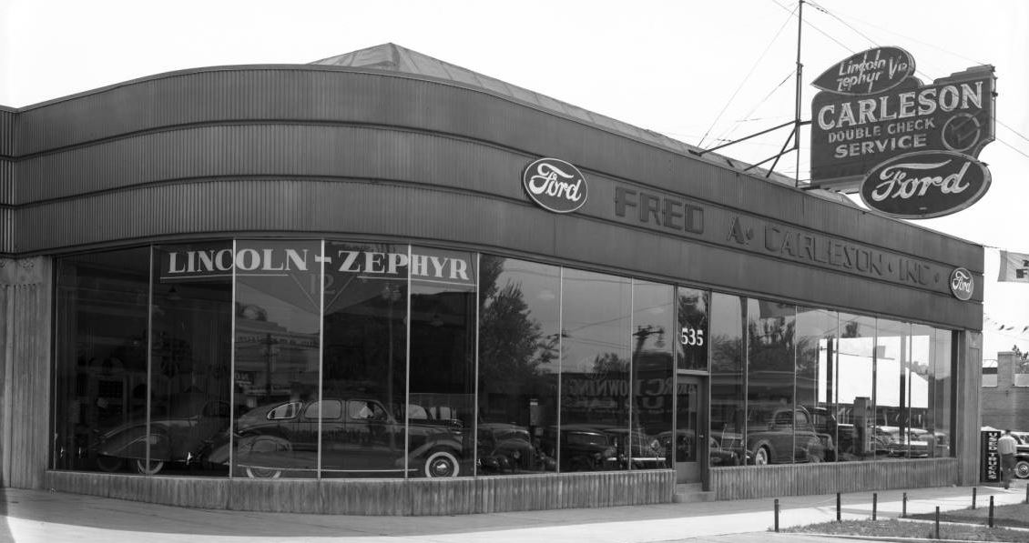 just a car guy zephyr business coupe in a zephyr dealership