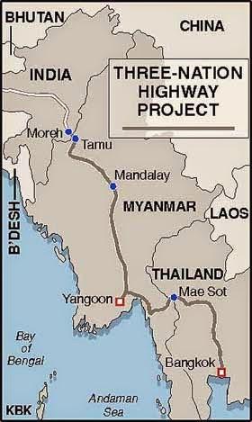 Strassenverbindung Indien Myanmar Thailand