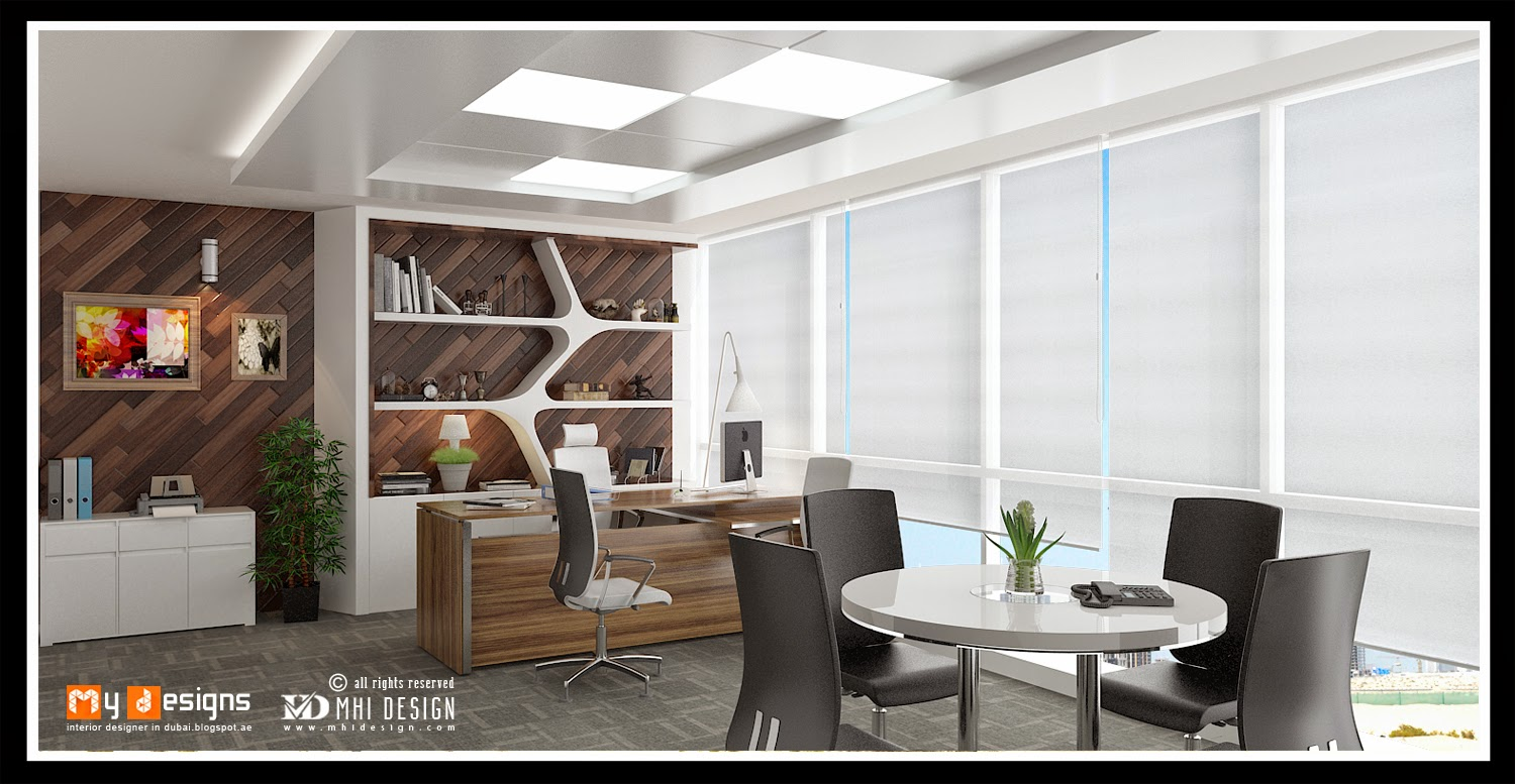 Office interior designs in dubai interior designer in for Small office cabin interior design ideas