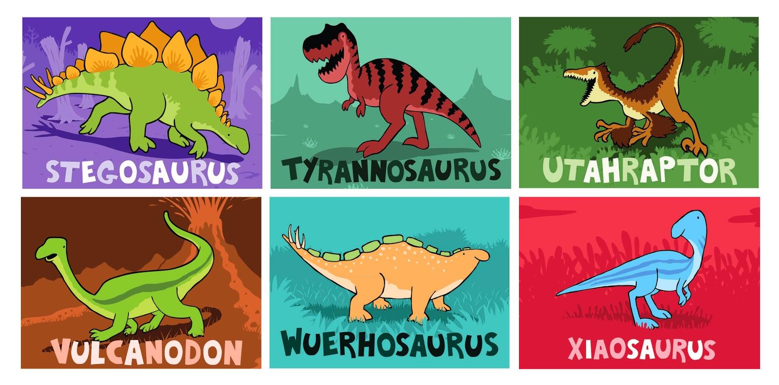 Stegosaurus Tyrannosaurus Utahraptor Vulcanodon Wuerhosaurus Xiaosaurus