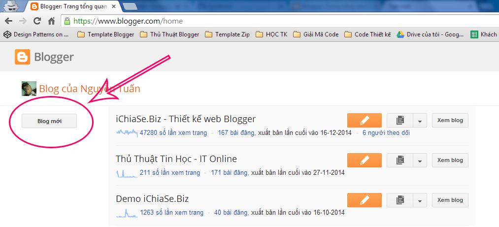 Ảnh minh họa đăng ký blogspot