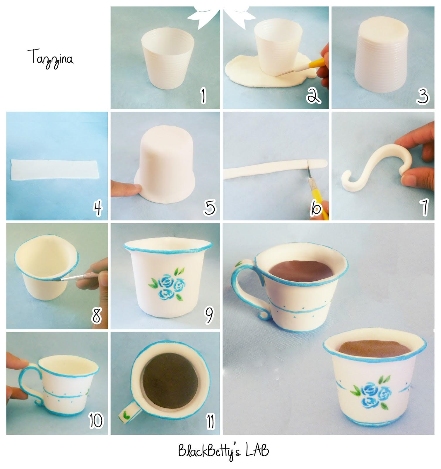 Как сделать кружку и блюдце из бумаги