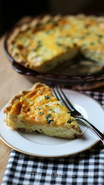 Cheese & Bacon Quiche: The Charm of Home