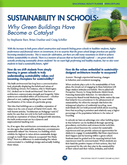 Pressroom sustainability in schools why green building for Green building articles