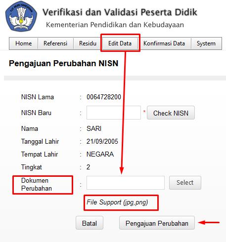 Panduan Verval NISN Peserta Didik