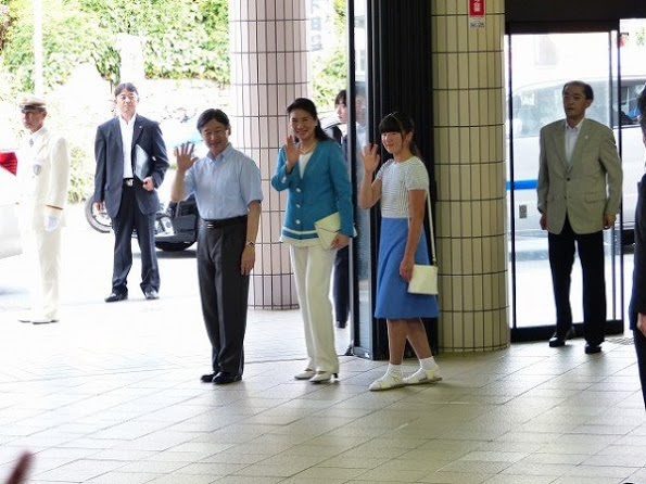 The Japanese Crown Prince Family Visited Suzaki Imperial Villa