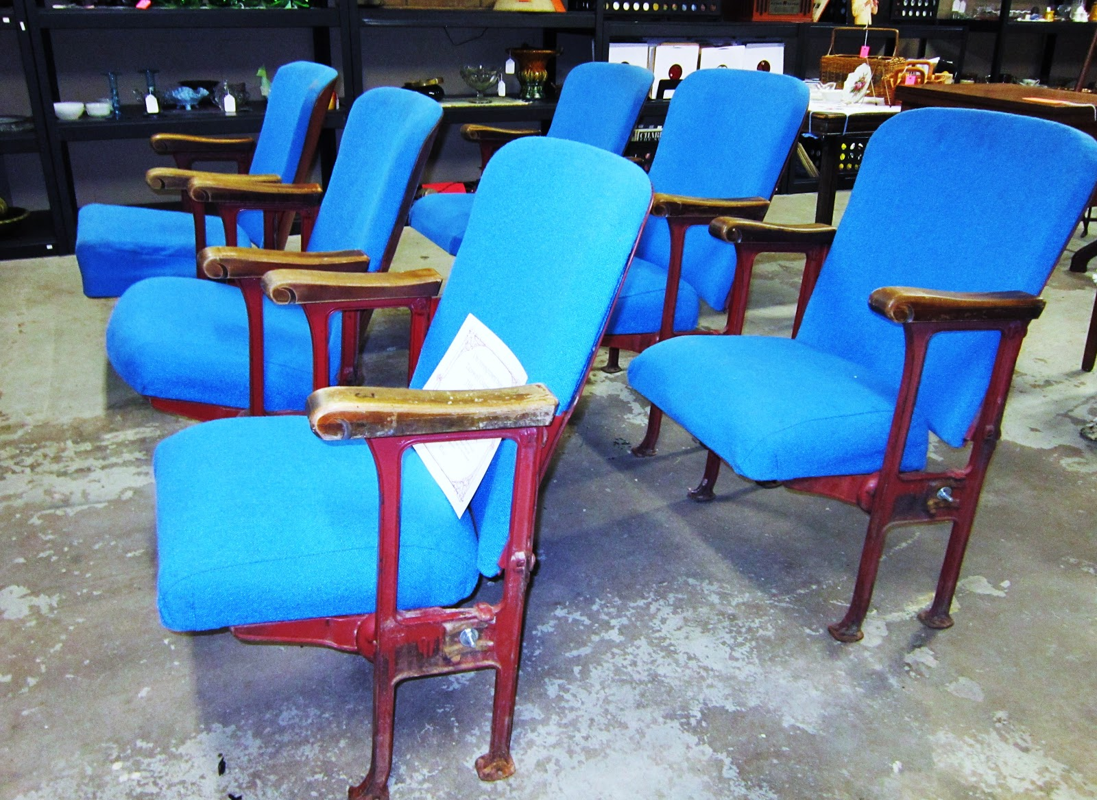 MUSEUM OFFERING OLD PEKIN THEATER SEATS FOR SALE AT SPIRITS OF THE PAST  ANTIQUES IN PEKIN