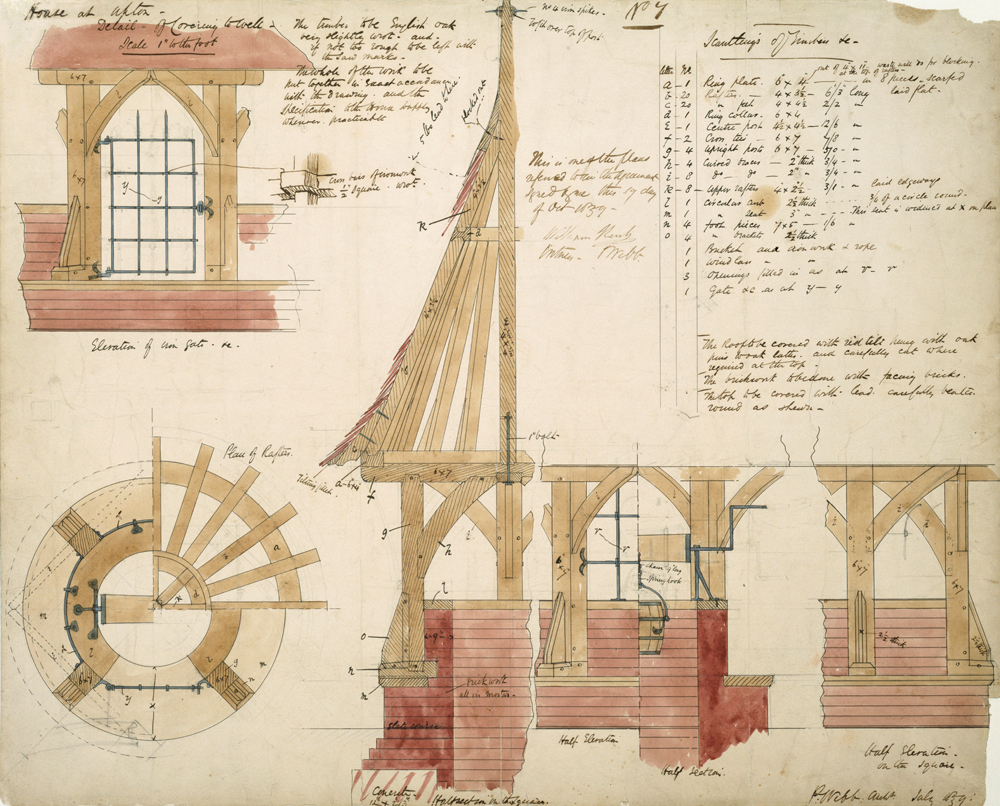 Philip Webbs Architectural Drawings When Designing The Well