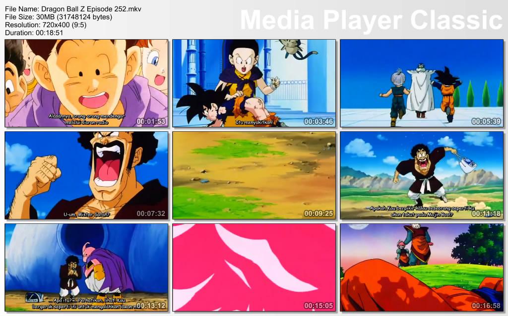 Download Film / Anime Dragon Ball Z Majin Buu Saga Episode 252 Bahasa