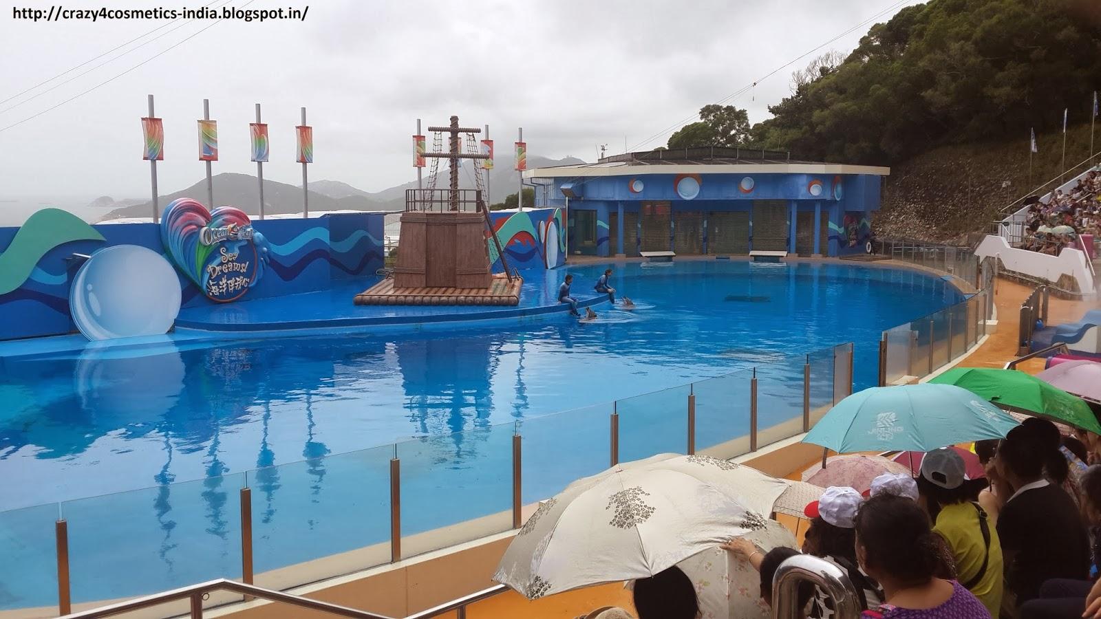 Hongkong Ocean Park dolphin show