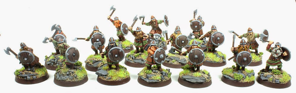 Lord of The Rings Strategy Battle Game - Dwarf Warriors with Shield