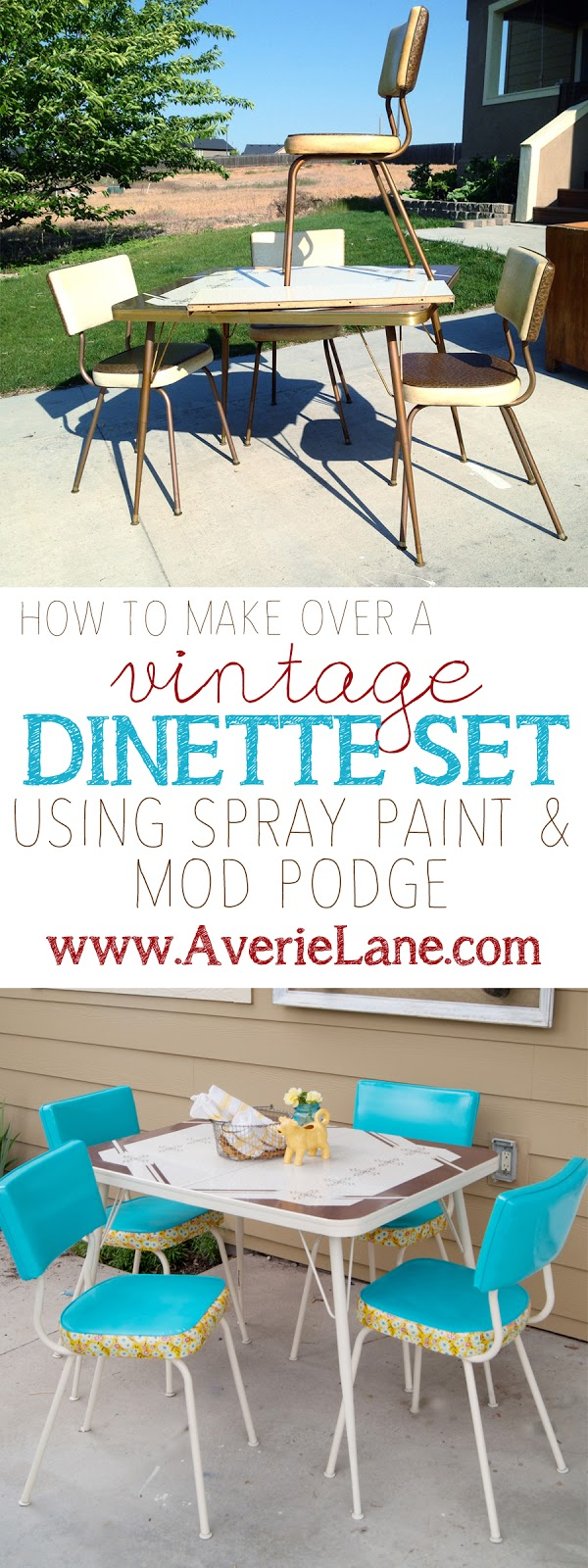 How to Make Over a Vintage Vinyl Dinette Set (using Spray Paint ...