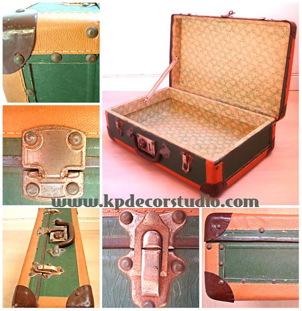 KP. vintage. Comprar maletas viejas, antiguas, originales, muebles segunda mano, mesitas con maletas vintage