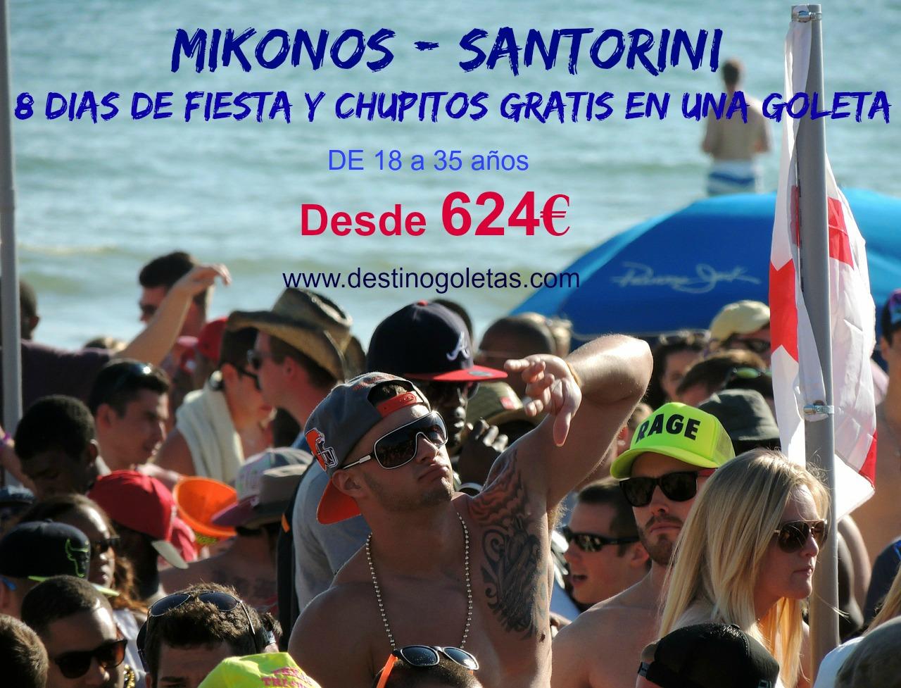 NOCHES DE FIESTA EN MIKONOS - SANTORINI