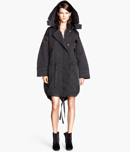 black parka coat