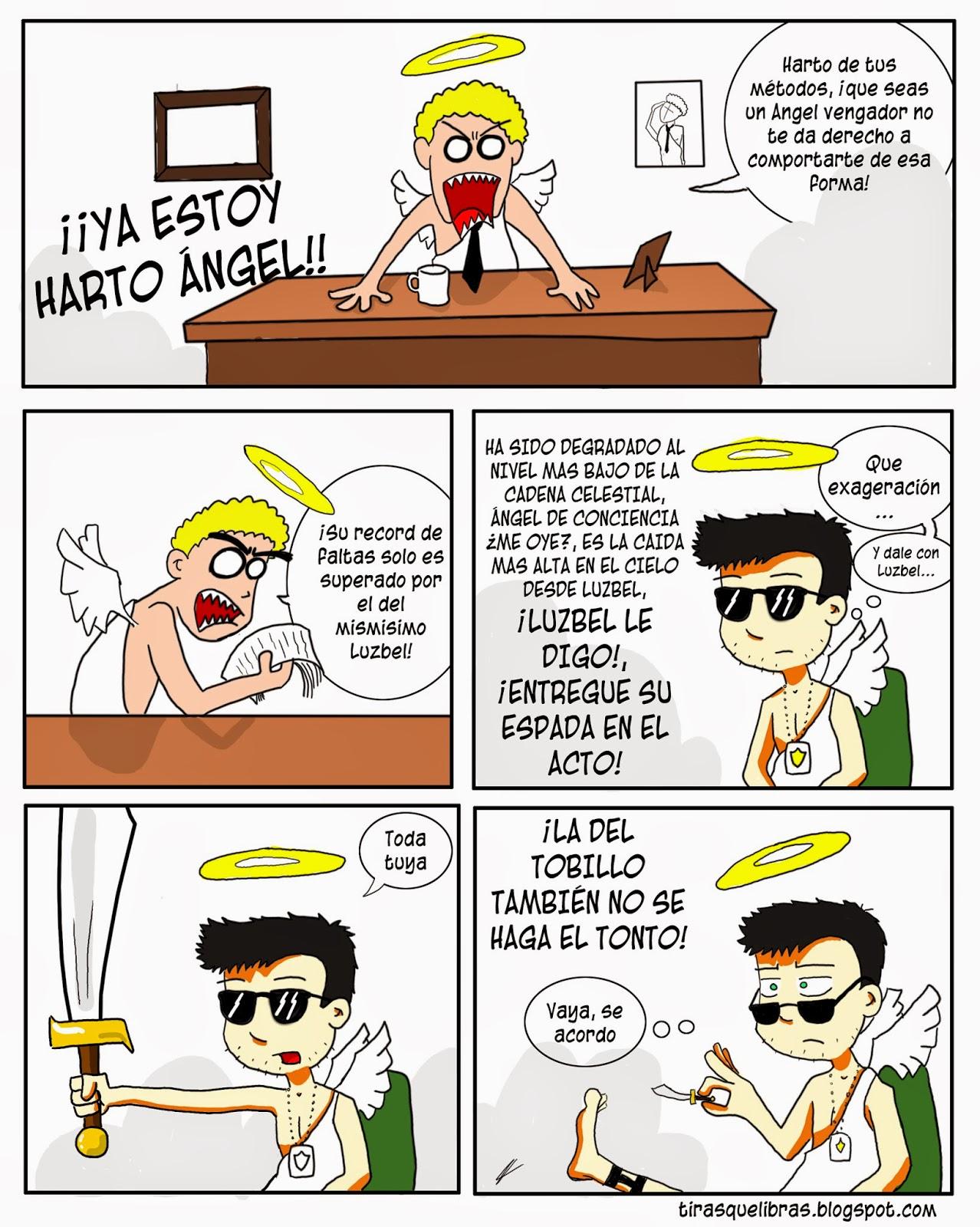 webcomic ye lo que hay, el angelito ha sido degradado