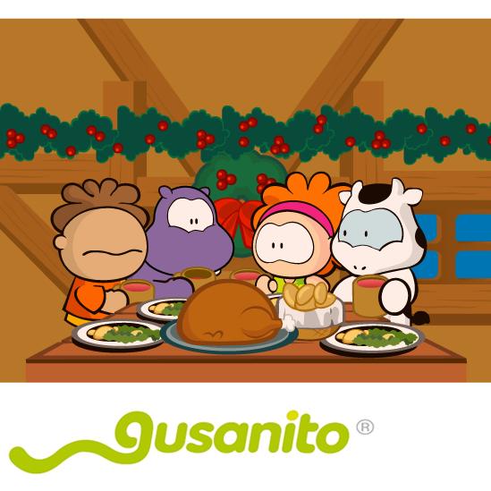 Cena de Navidad Cowco y sus amigos - vector