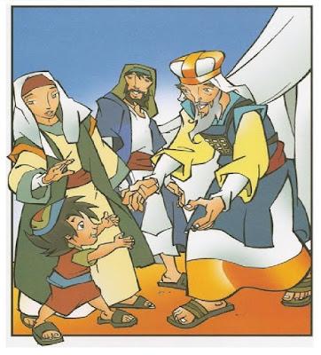 O menino Samuel no templo