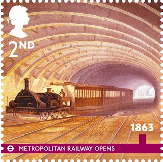 2nd class London Underground Stamp Metropolitan railway.
