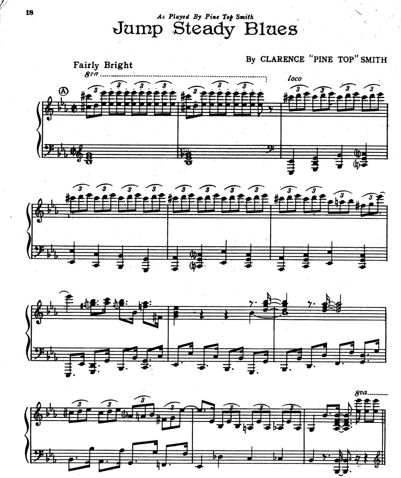 Learning Blues Piano From Music Score: Pops Coffee's Traditional Jazz: Post 210: PLAYING BOOGIE WOOGIE