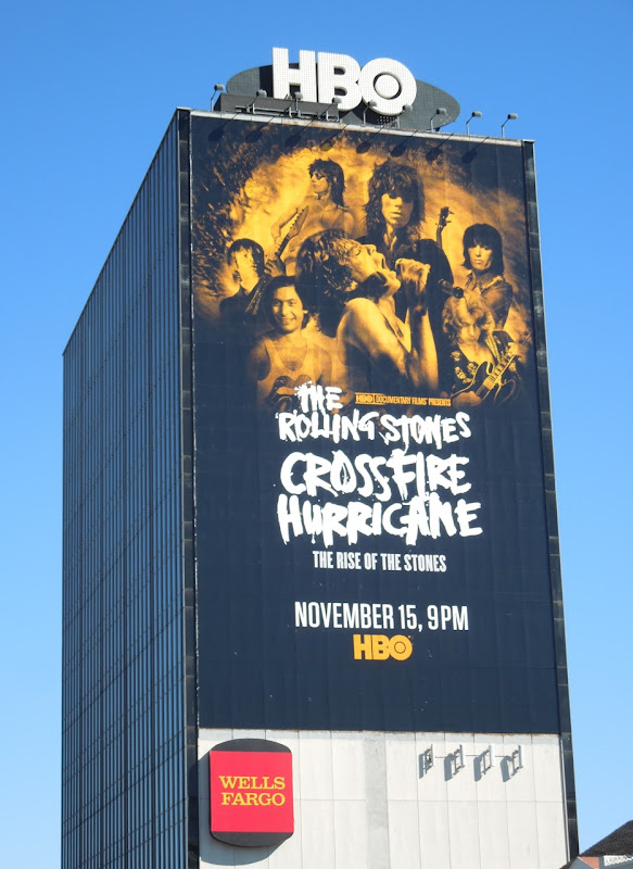 Rolling Stones Crossfire Hurricane giant billboard