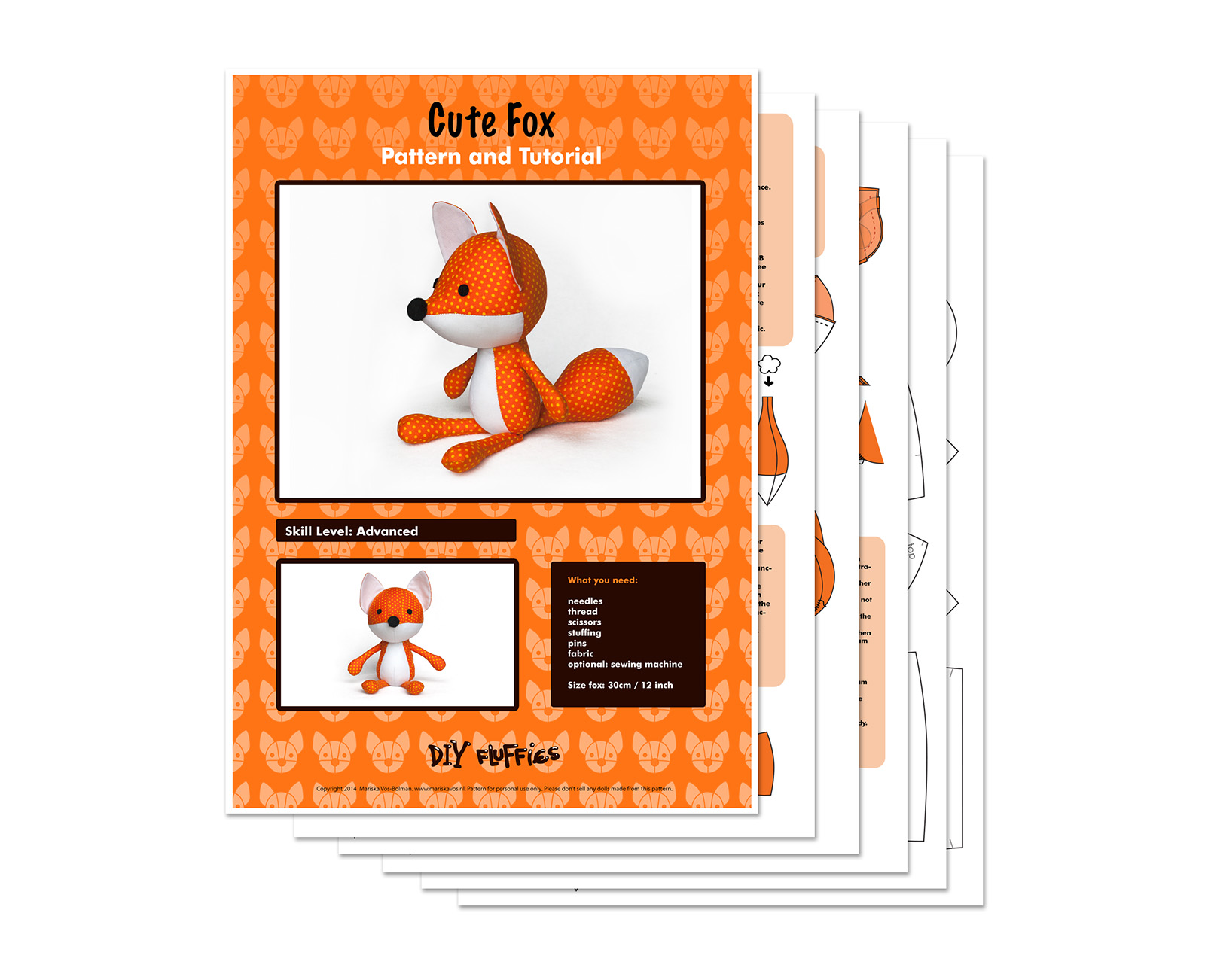 fox soft toy pattern