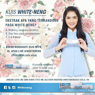 Info Kuis - Kuis WHITE-NENG Akhir Tahun Berhadiah Produk