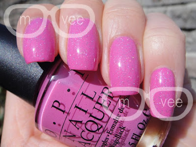 China Glaze fairy dust over OPI shorts story