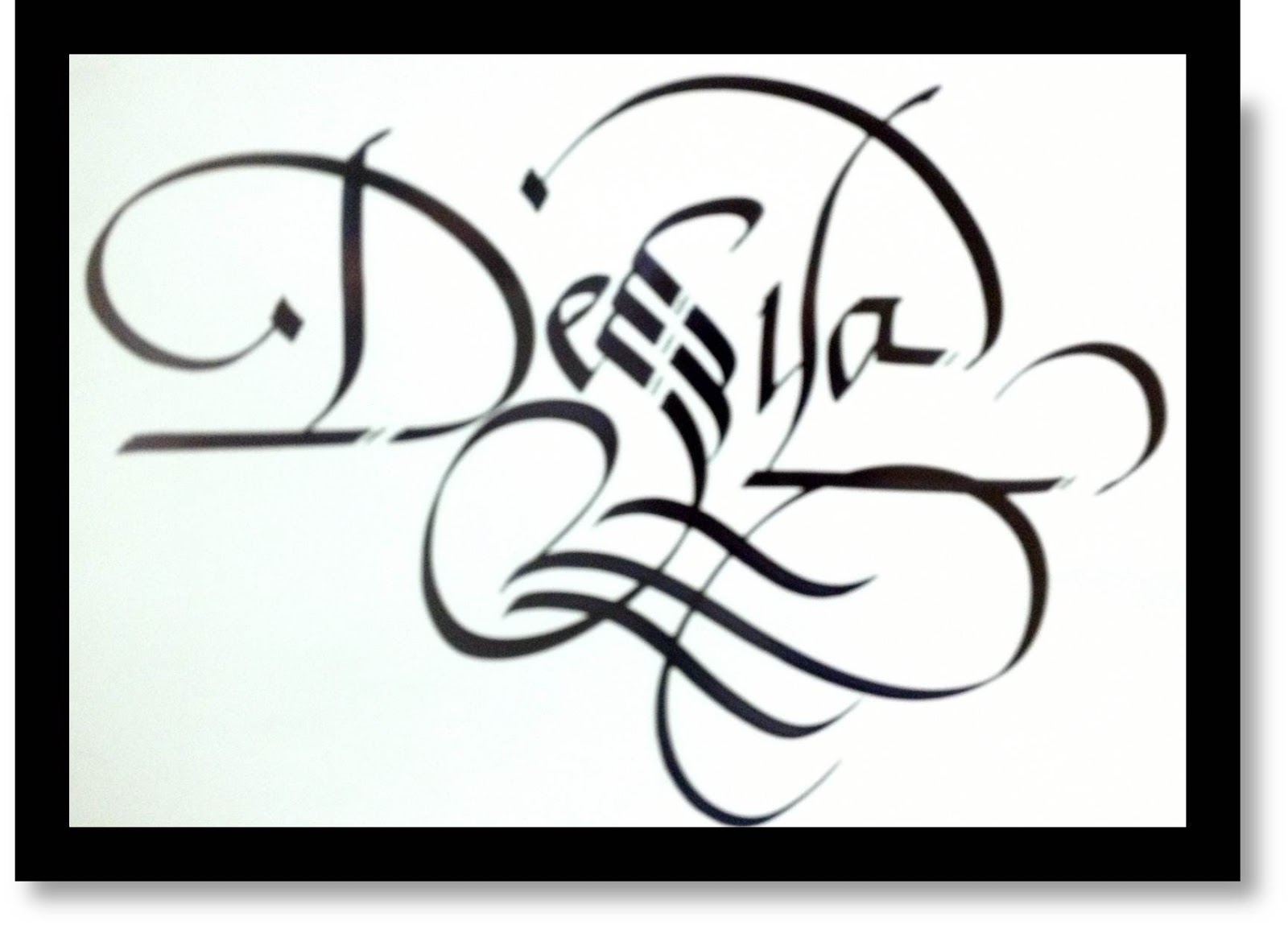 Calligraphy Art Russian Names In Calligraphy Desya
