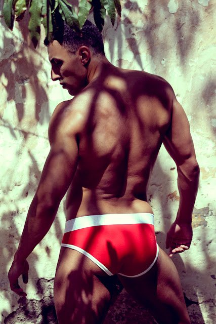 Sexy model Fran Gonzalez by Adrian C. Martin in Querelle Brief Modus Vivendi underwear