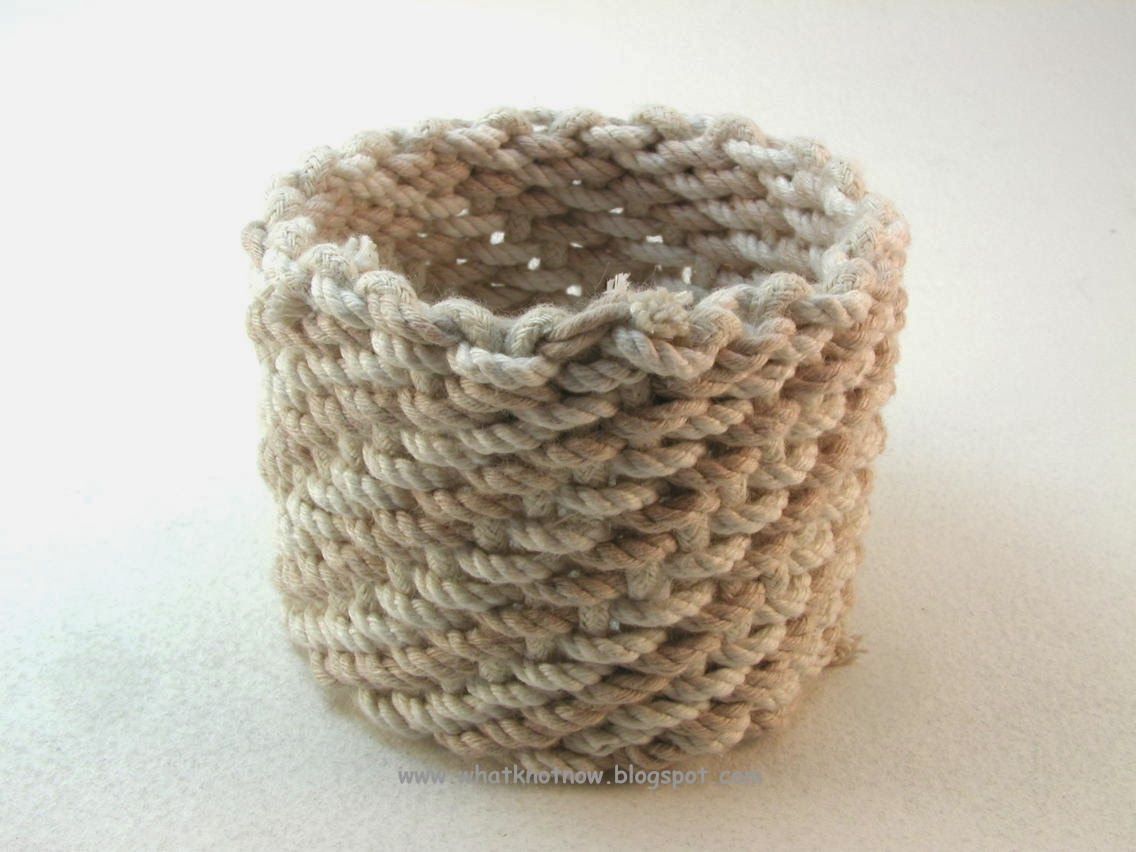 How To Weave A Basket With Rope : Knots and fiber bracelets basket weave rope cuff desert