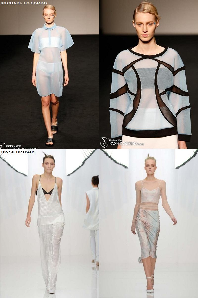 MBFWA, Trends, Sheer, Michael Lo Sordo, Bec & Bridge, SS 2013/14